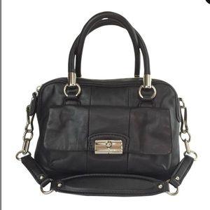 Kristen coach black leather purse